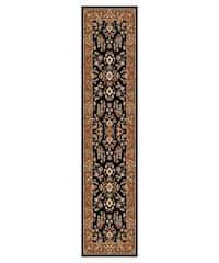 "Safavieh Lyndhurst Traditional Oriental Black/ Tan Runner Rug - 2'3"" x 8'"