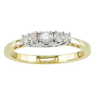 Miadora 14k Gold 1/4ct TDW Round Diamond Five-stone Ring