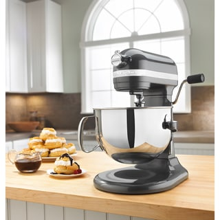 KitchenAid KP26M1XPM Pearl Metallic 6-quart Pro 600 Bowl-Lift Stand Mixer with $50 Rebate