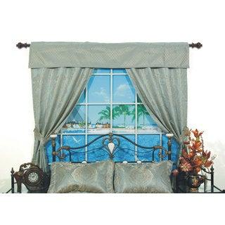 San Marino Pole Top 84-inch Home Window Set in Green - 42 x 84