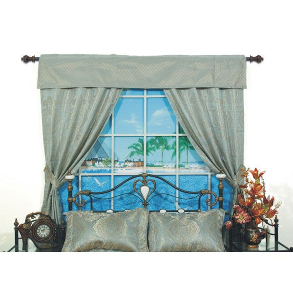 San Marino Pole Top 84-inch Home Window Set in Green