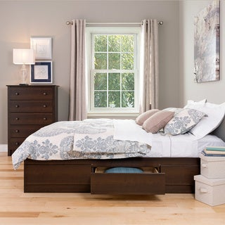 Espresso Queen Mate's 6-drawer Platform Storage Bed