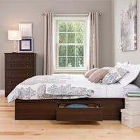 Prepac Espresso Wood and Laminate Queen Mate's 6-drawer Platform Storage Bed