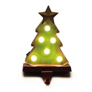 Glitzhome Marquee LED Tree Stocking Holder
