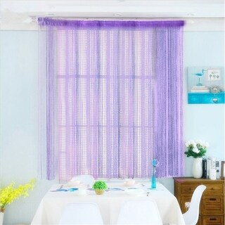String Door Curtain Beads Window Panel Room Divider - Purple
