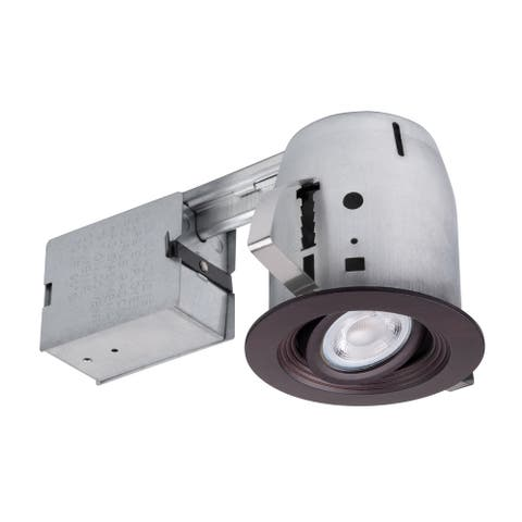 4 in. Oxide Bronze Die-Cast Recessed Lighting Kit, Bulb Included