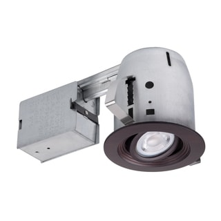 Link to 4 in. Oxide Bronze Die-Cast Recessed Lighting Kit, Bulb Included Similar Items in Recessed Lights