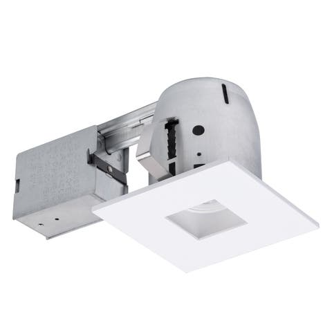 4 in. White IC Rated Die-Cast Recessed Lighting Kit, LED Bulb Included