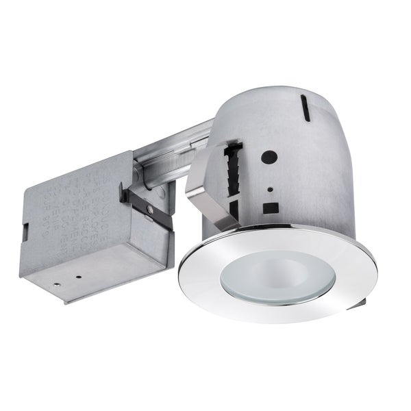 4 in. Chrome Recessed Lighting Kit, Bulb Included. Opens flyout.