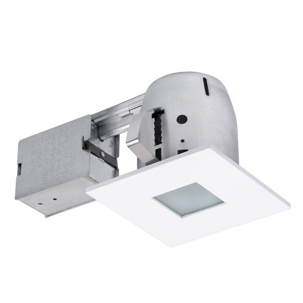 4 in. Matte White Die-Cast Recessed Lighting Kit. Opens flyout.