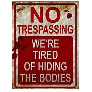 "Vintage No Trespassing Metal Sign 9"" x 12"" - N/A"