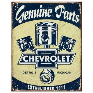 "Vintage Chevrolet General Parts Metal Sign 12.5"" x 16"""