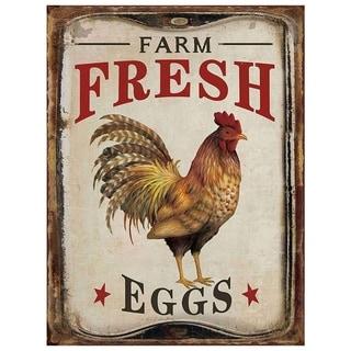 "Vintage Farm Fresh Eggs Bold Metal Sign 10"" x 13"""