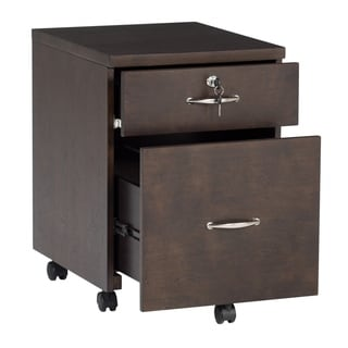 Offex Newel Mobile 2 Drawer Wood Filing Cabinet with Lock - Java