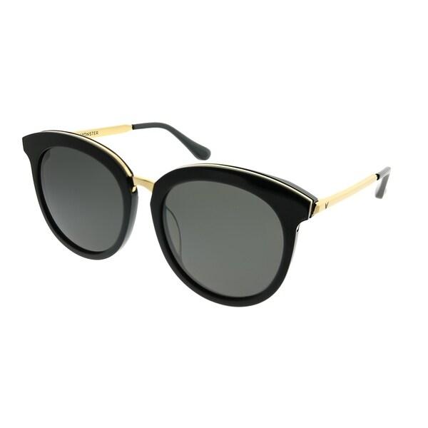 6f9615d1960 Gentle Monster Round LoveSome One 001 Women Black Gold Frame Grey Lens  Sunglasses