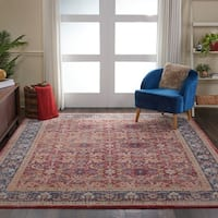 "Nourison Global Vintage Red Floral Area Rug - 7'10"" x 9'10"""