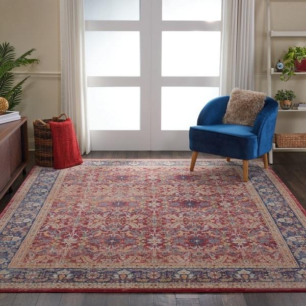 Nourison Global Vintage Red Floral Area Rug. Opens flyout.