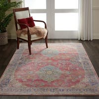 Nourison Global Vintage Collection Multicolor Traditional Oriental Area Rug - 5'3 x 7'6