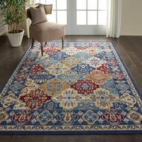 "Nourison Grafix Multicolor Traditional Area Rug - 5'3"" x 7'3"""