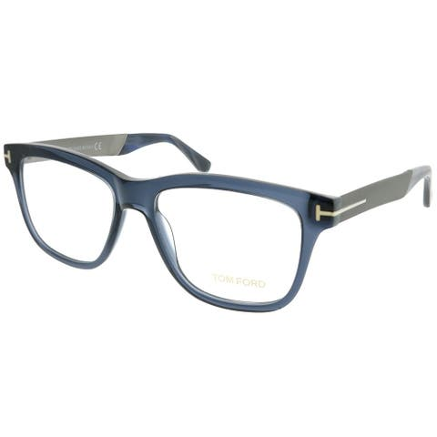 8671c6db6f Tom Ford Rectangle FT 5372 090 Unisex Shiny Blue Frame Eyeglasses