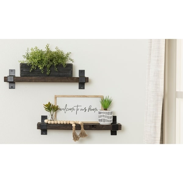 Del Hutson Designs Industrial Grace Bracket Shelf - 24 Inch