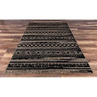 GAD Bodrum Contemporary Geometric Brown Indoor/ Outdoor Area Rug - 7'10 x 10'2