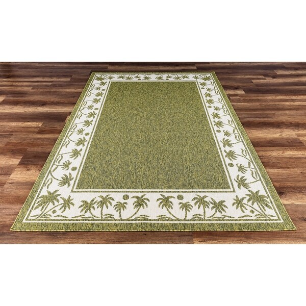 Gad Palms Beautiful Contemporary Indoor Outdoor Area Rug Tropical 5 3 X 7 Free Shipping Today 22985839