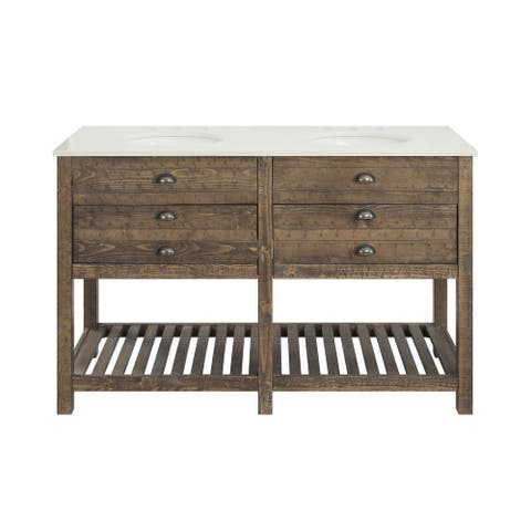 Somette Two Drawer Double Vanity Sink