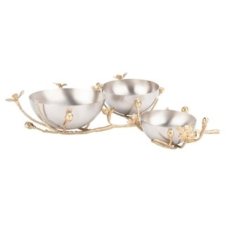 Safavieh Couture Amory Brass Bowl - Silver / Gold - 16 In W x 12 In D x 4.5 In H