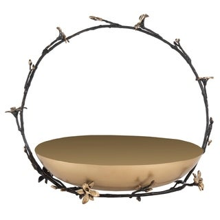 Safavieh Couture Fell Brass Bowl - Black / Gold - 13.5 in w x 7.5 in d x 14 in h