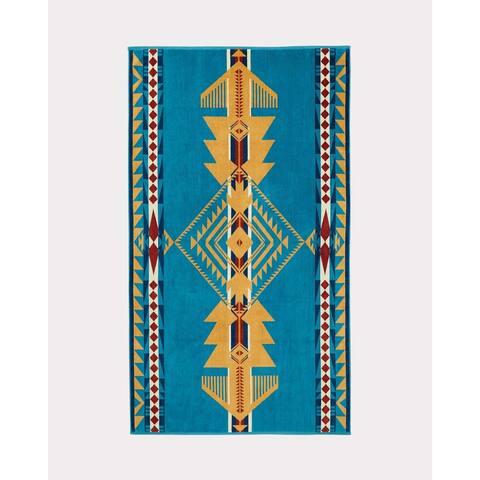 Pendleton Eagle Gift Turquoise Oversized Spa Towel