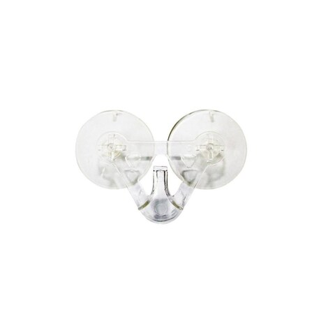 """3.5"""" Clear Suction Cup Wreath Hook and Christmas Decoration Hanger - White - N/A"""