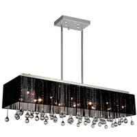 Chrome Black Stainless Steel Crystal 17-light Chandelier
