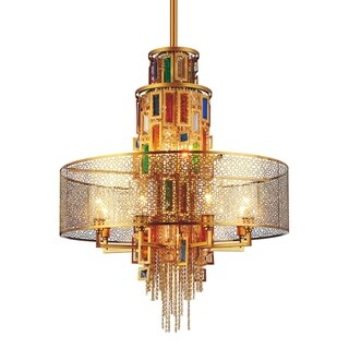 Link to Gracewood Hollow Kam 15-light Chain Chandelier with Goldtone Finish Similar Items in Chandeliers