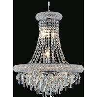 Chrome Finish Stainless Steel 17-Light Chandelier