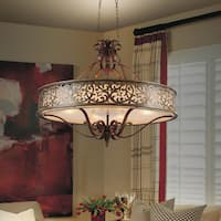 Stainless Steel 6-light Brushed Chocolate-finish Chandelier