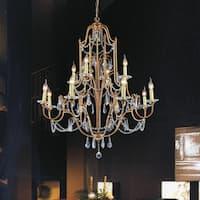 12-light Oxidized Bronze Finish Chandelier