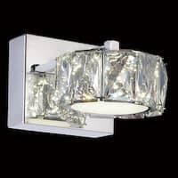 LED Wall Sconce with Chrome Finish