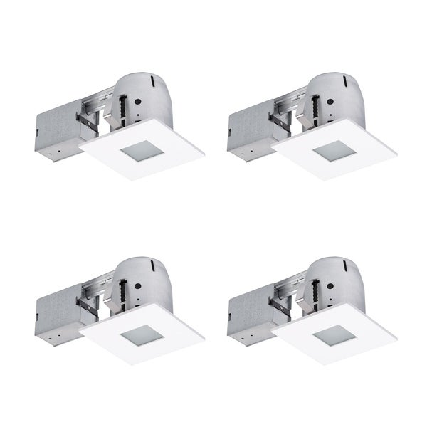 "4"" White IC Rated Recessed Lighting Kit (4-Pack), LED Bulbs Included. Opens flyout."