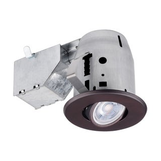 3 in. Oil Rubbed Bronze Swivel Recessed Lighting Kit