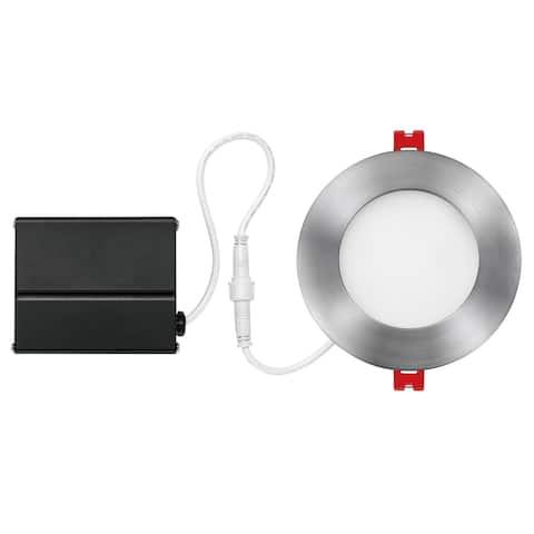 4 in. Brushed Nickel Ultra Slim Integrated LED Recessed Lighting Kit