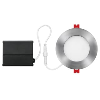 Link to 4 in. Brushed Nickel Ultra Slim Integrated LED Recessed Lighting Kit Similar Items in Recessed Lights