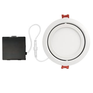 Link to 4 in. White Ultra Slim Swivel Integrated LED Recessed Lighting Kit Similar Items in Recessed Lights