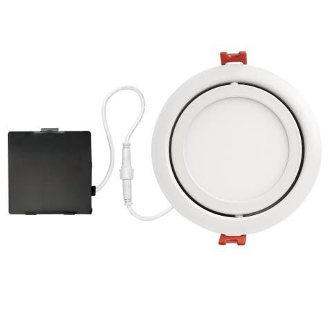 3 in. White Ultra Slim Integrated LED Recessed Lighting Kit