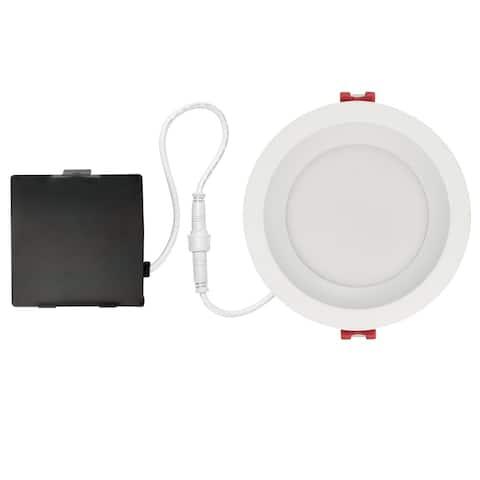 4 in. White Ultra Slim Baffle Integrated LED Recessed Lighting Kit