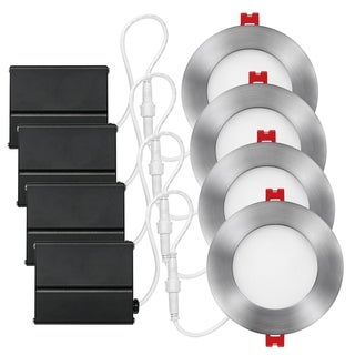 3 in. White Ultra Slim Integrated LED Recessed Lighting Kit (4-Pack)