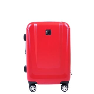 Ful Load Rider 21in Hard Sided Spinner Rolling Luggage, Red