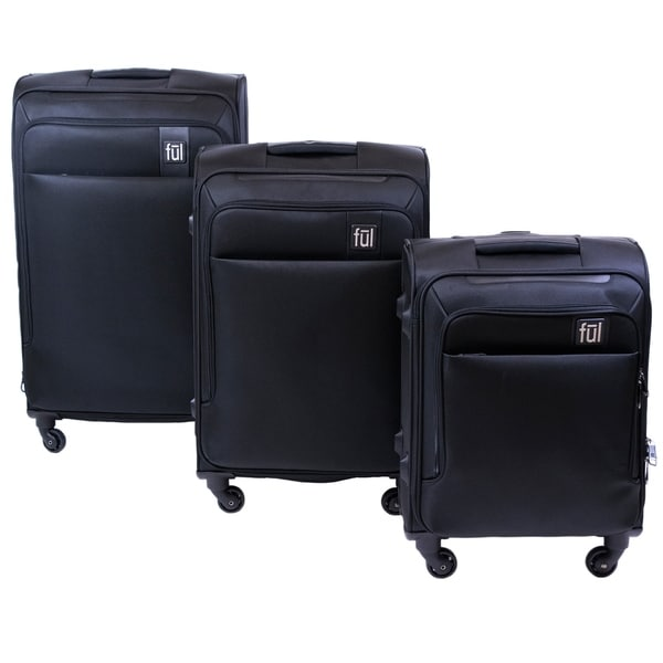 6c6238ab32 Shop Ful Flemington Soft Sided 3 Piece Luggage Set, Black - 29 ...