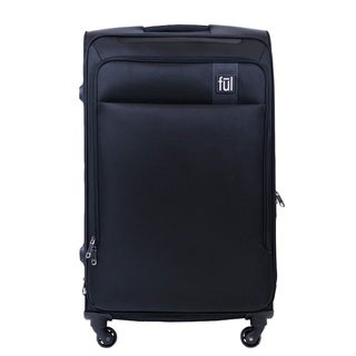 Ful Flemington 29in Soft Sided Rolling Luggage Suitcase, Black