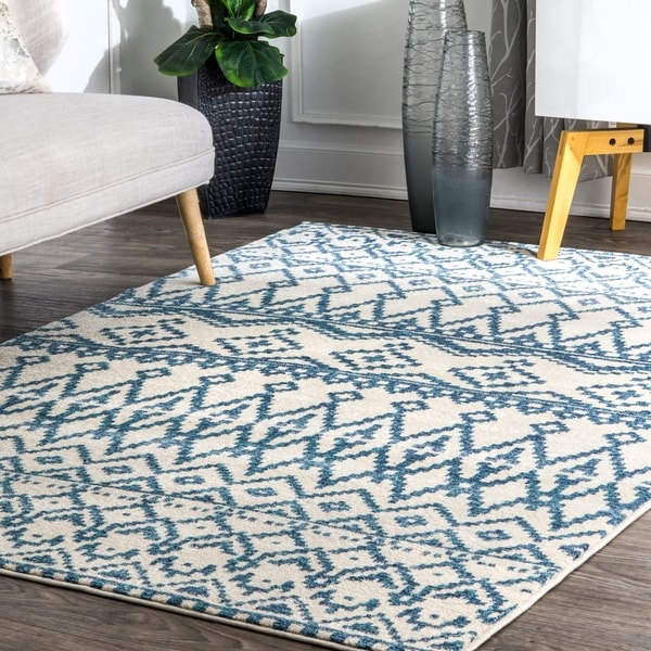Shop Nuloom Blue Contemporary Vintage Ombre Aztec Cleo